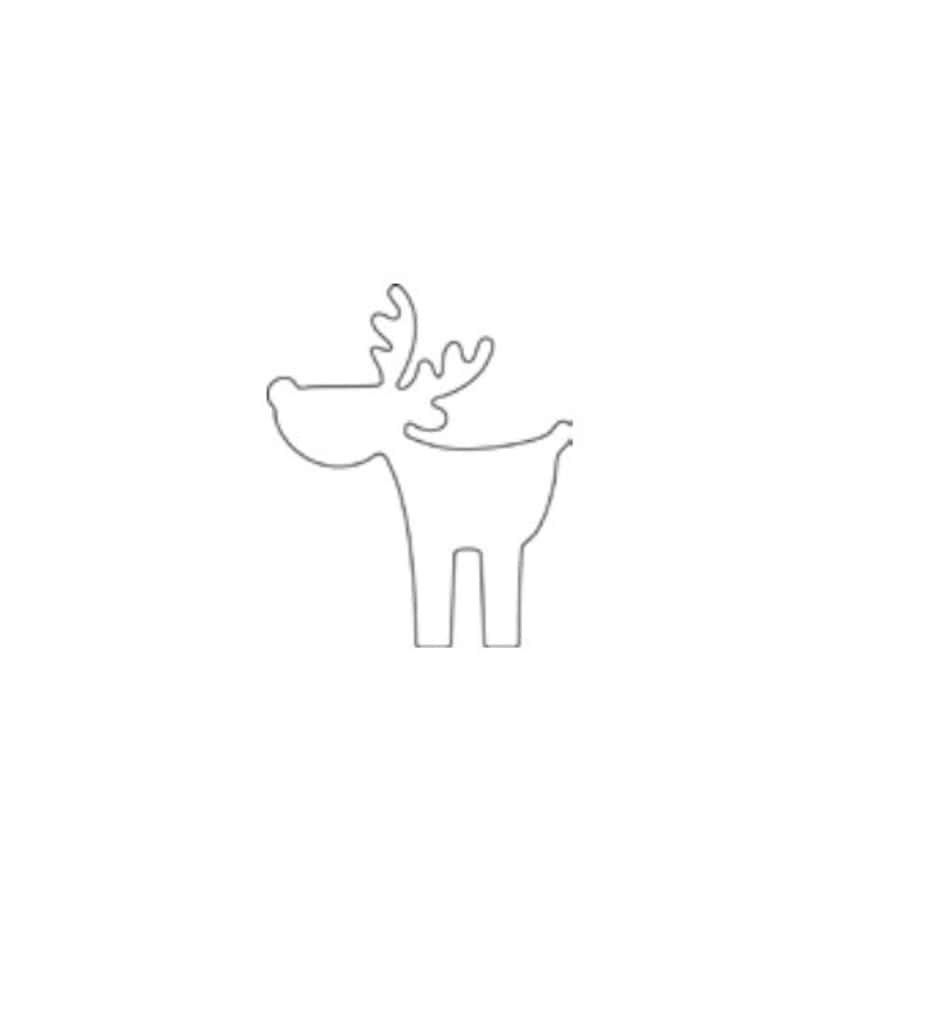 """Онлайн каталог PROMENU: Форма для печенья """"Лось"""" Kaiser Backform COOKIE, 8х7х2,5 см, серебристый                                   23 0060 9492"""