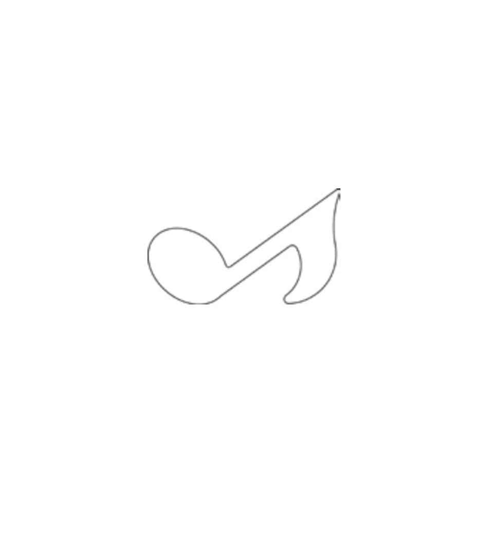 """Онлайн каталог PROMENU: Форма для печенья """"Note"""" Kaiser Backform COOKIE, 2,5х8х5 см, серебристый Kaiser Backform 23 0060 4442/1"""