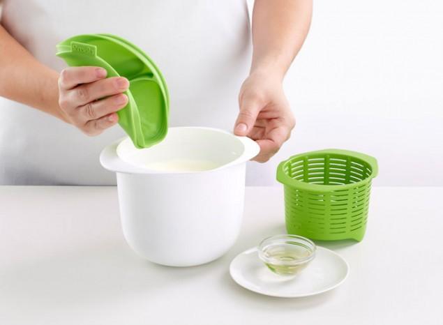 Форма для приготовления домашнего творога Lekue, объем 1 л, зеленый Lekue 0220100V06M017 фото 4