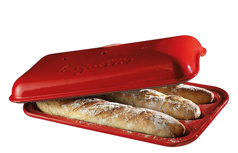 Онлайн каталог PROMENU: Форма для выпечки багета с крышкой Emile Henry, 39х24 см, красный Emile Henry 345506