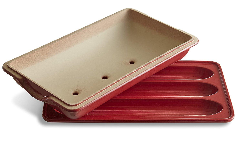Форма для выпечки багета с крышкой Emile Henry, 39х24 см, красный Emile Henry 345506 фото 2