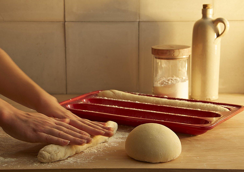 Форма для выпечки багета с крышкой Emile Henry, 39х24 см, красный Emile Henry 345506 фото 5