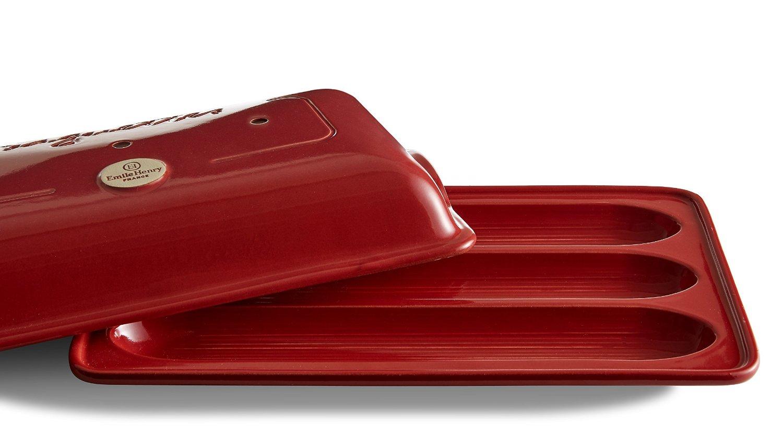 Форма для выпечки багета с крышкой Emile Henry, 39х24 см, красный Emile Henry 345506 фото 1