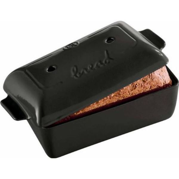 Онлайн каталог PROMENU: Форма для выпечки хлеба с крышкой Emile Henry, 28x15x12 см, черный Emile Henry 795504