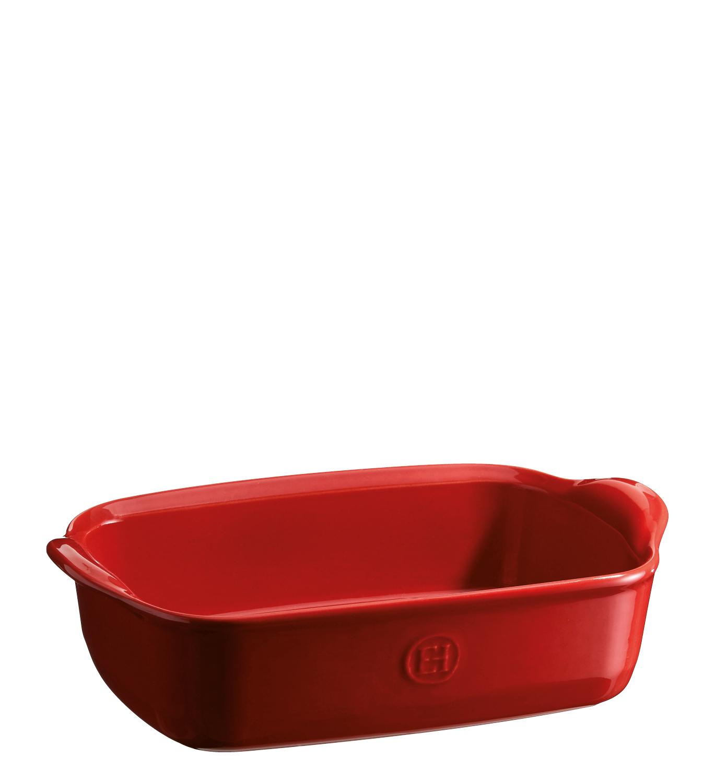 Онлайн каталог PROMENU: Форма для запекания с ручками Emile Henry, 22x14 см, красный
