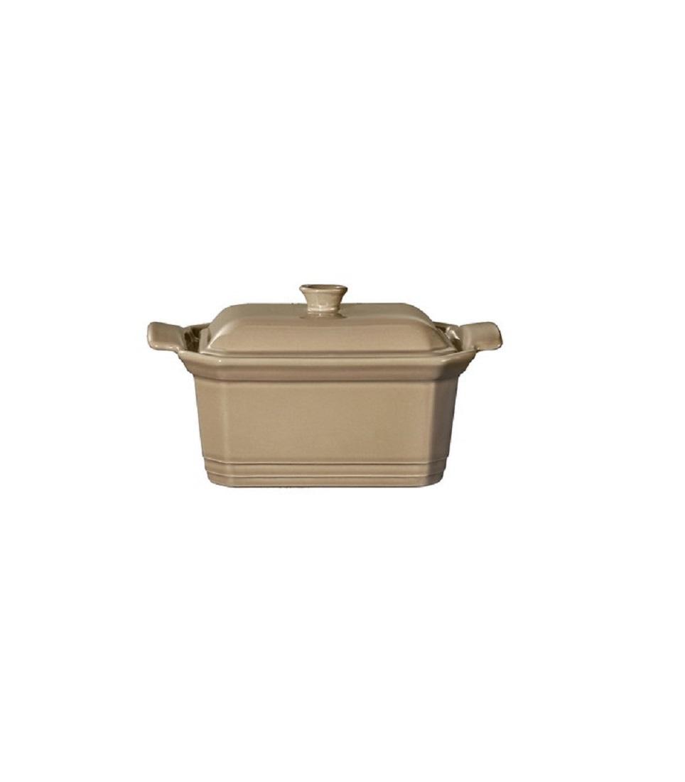 Онлайн каталог PROMENU: Форма с крышкой для запекания Emile Henry, 15,5х12 см, коричневый                               965860