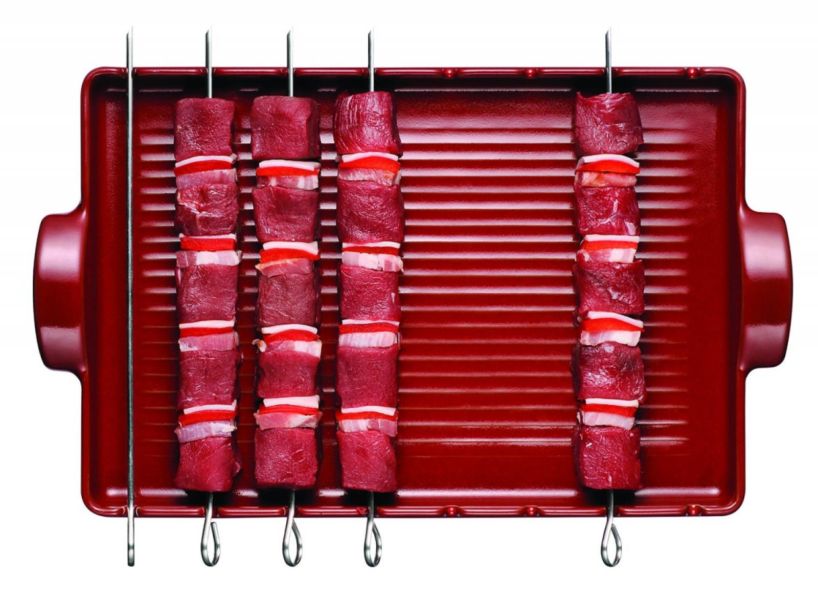 Гриль для мяса и овощей Emile Henry BBQ, 42x25 см, красный Emile Henry 347542 фото 1