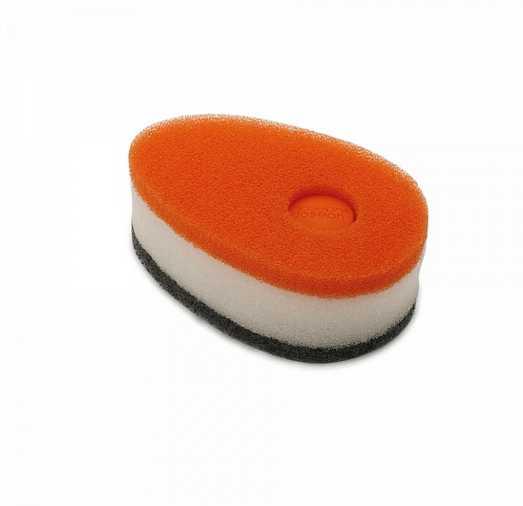 Губка с капсулой для жидкого мыла Joseph Joseph soapy sponge, 12x7x4,5 см, оранжевый Joseph Joseph 85073 фото 7