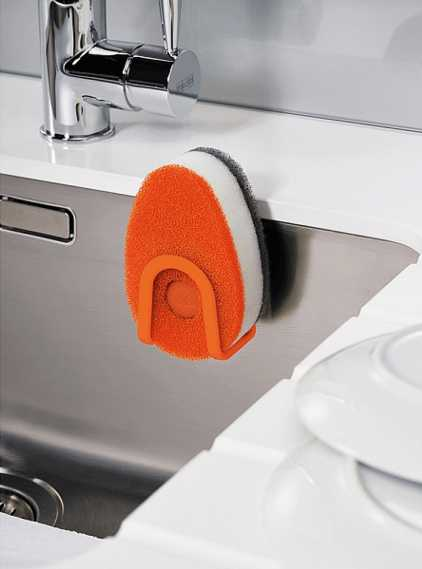 Губка с капсулой для жидкого мыла Joseph Joseph soapy sponge, 12x7x4,5 см, оранжевый Joseph Joseph 85073 фото 4
