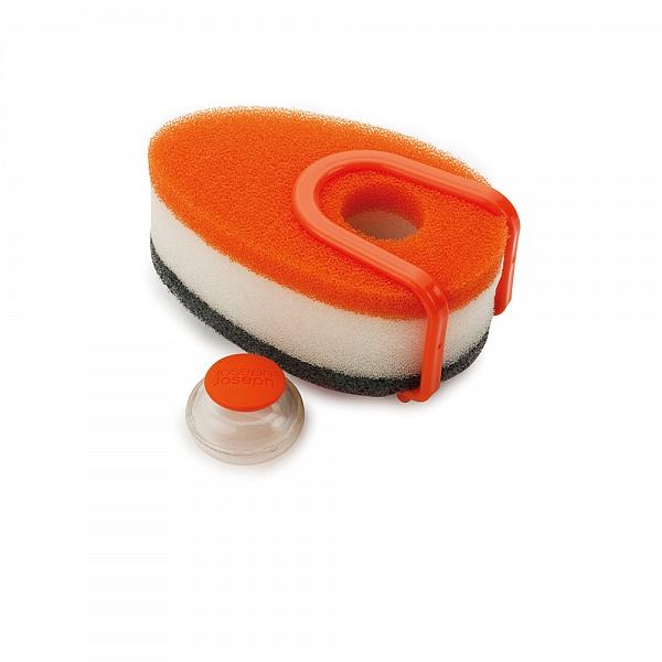 Онлайн каталог PROMENU: Губка с капсулой для жидкого мыла Joseph Joseph soapy sponge, 12x7x4,5 см, оранжевый Joseph Joseph 85073