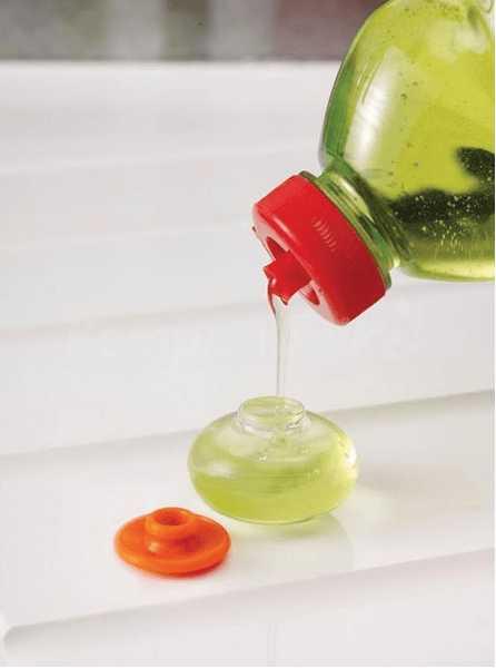 Губка с капсулой для жидкого мыла Joseph Joseph soapy sponge, 12x7x4,5 см, оранжевый Joseph Joseph 85073 фото 1