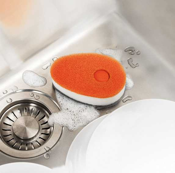 Губка с капсулой для жидкого мыла Joseph Joseph soapy sponge, 12x7x4,5 см, оранжевый Joseph Joseph 85073 фото 6