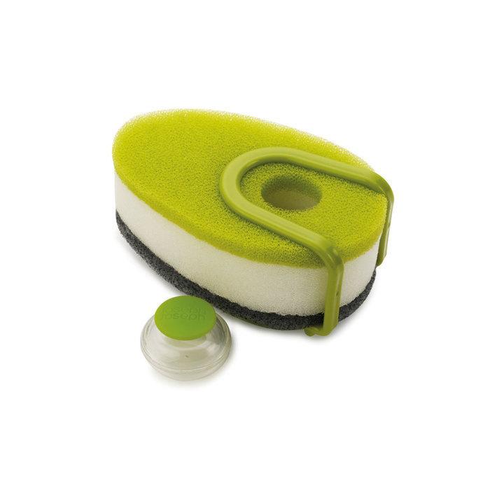 Онлайн каталог PROMENU: Губка с капсулой для жидкого мыла Joseph Joseph soapy sponge, 12x7x4,5 см, зеленый Joseph Joseph 85072