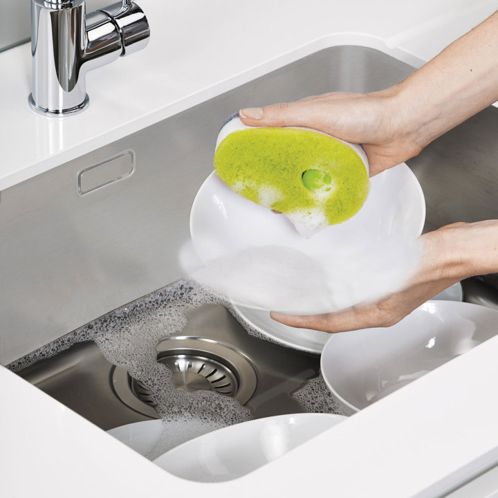 Губка с капсулой для жидкого мыла Joseph Joseph soapy sponge, 12x7x4,5 см, зеленый Joseph Joseph 85072 фото 3