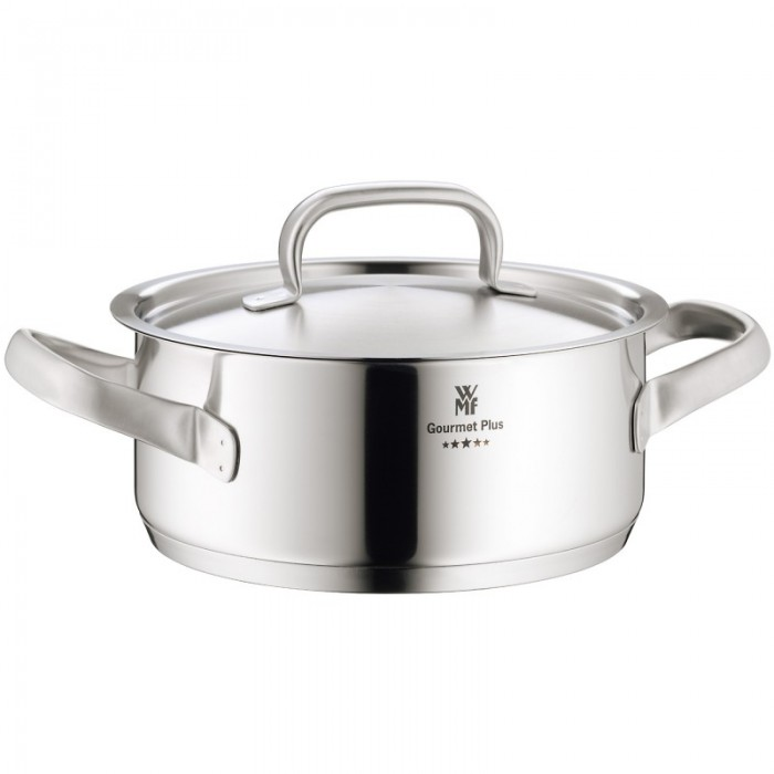 Кастрюля низкая с крышкой WMF Gourmet Plus, объем 4,1 л, диаметр 24 см WMF 07 2224 6030 фото 1
