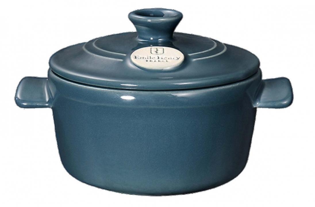 Онлайн каталог PROMENU: Кастрюля с крышкой Emile Henry Cookware, объем 0,3 л, blue flame                               974533