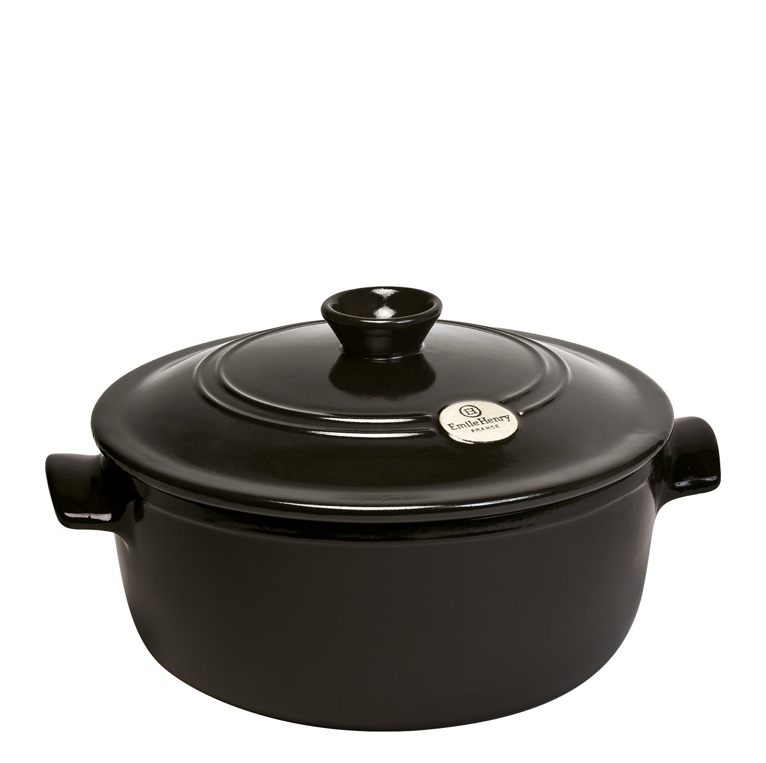 Онлайн каталог PROMENU: Кастрюля с крышкой Emile Henry Cookware, объем 4 л, диаметр 26 см, черный Emile Henry 794540