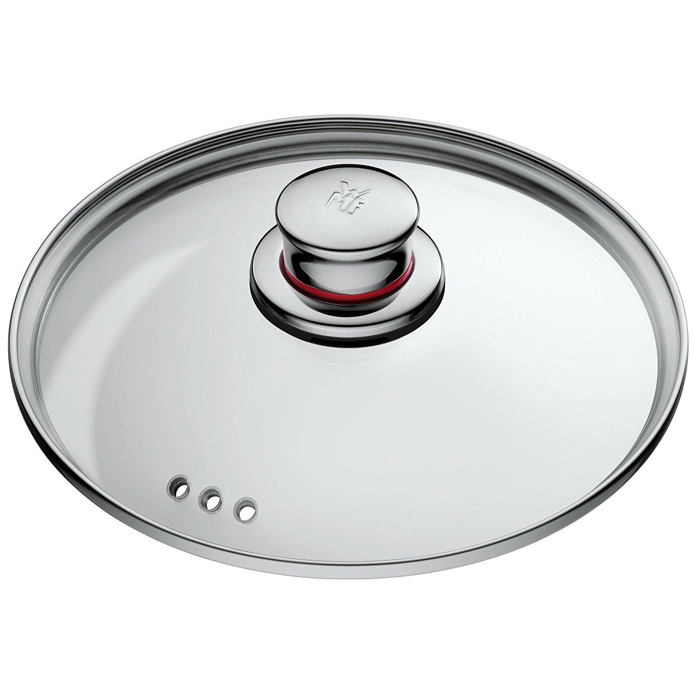 Кастрюля с крышкой высокая WMF QUALITY ONE, объем 2 л, диаметр 16 см, серебристый с красным WMF 07 7516 6380 фото 1