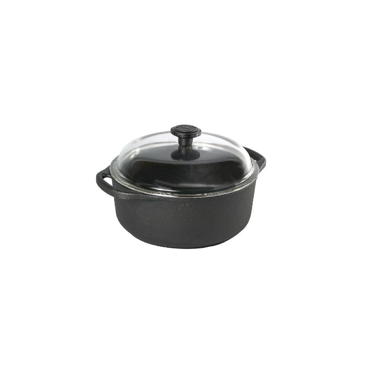 Кастрюля с стеклянной крышкой Skeppshult CASSEROLES, объем 4 л, черный Skeppshult 0410 фото 1