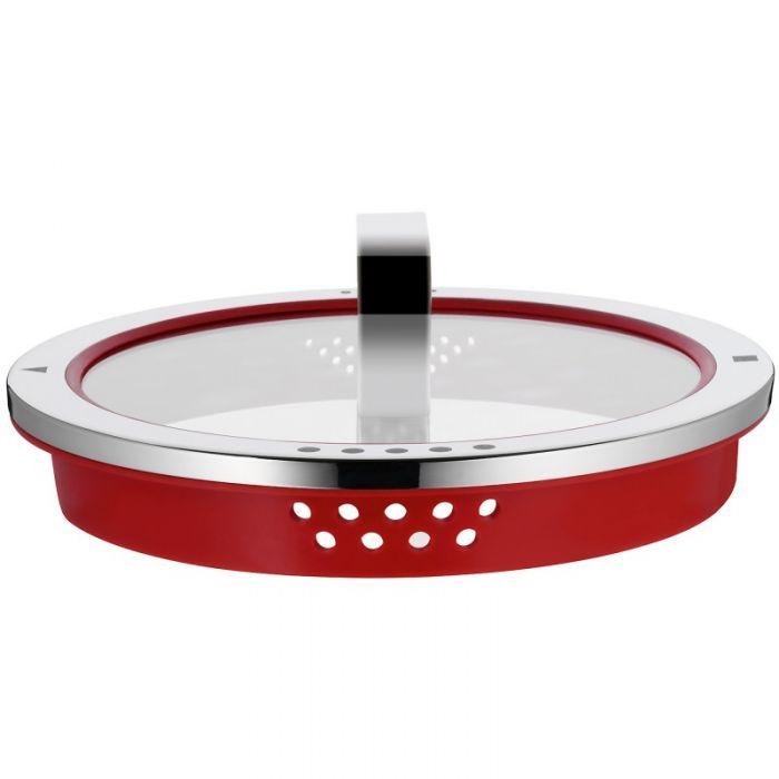 Кастрюля высокая WMF FUNCTION 4, объем 8,8 л, серебристая с красным WMF 07 6224 6380 фото 2