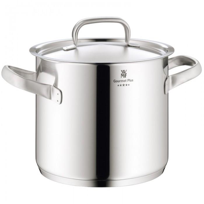 Онлайн каталог PROMENU: Кастрюля высокая с крышкой WMF Gourmet, объем 5,3 л, диаметр 20 см, серебристый WMF 07 2520 6030
