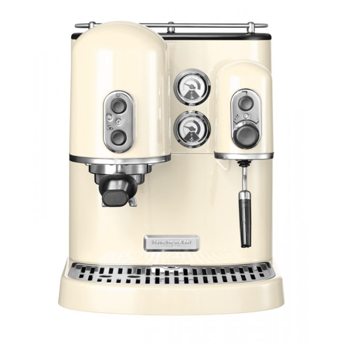 Онлайн каталог PROMENU: Кофемашина рожковая с 2 бойлерами KitchenAid ARTISAN, кремовый KitchenAid 5KES2102EAC