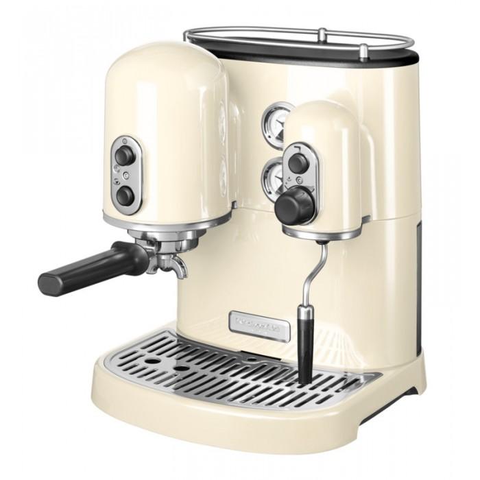 Кофемашина рожковая с 2 бойлерами KitchenAid ARTISAN, кремовый KitchenAid 5KES2102EAC фото 1