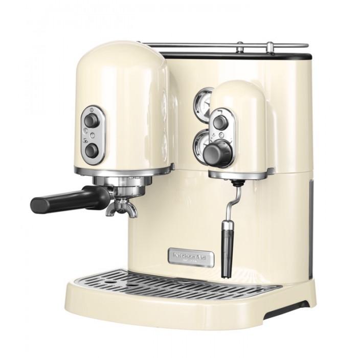 Кофемашина рожковая с 2 бойлерами KitchenAid ARTISAN, кремовый KitchenAid 5KES2102EAC фото 2