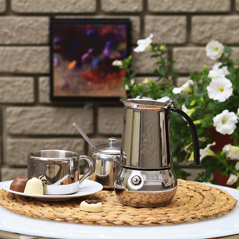 "Кофеварка гейзерная ""Kitty"" на 2 чашки Bialetti KITTY, серебристый Bialetti 0004888IN фото 6"