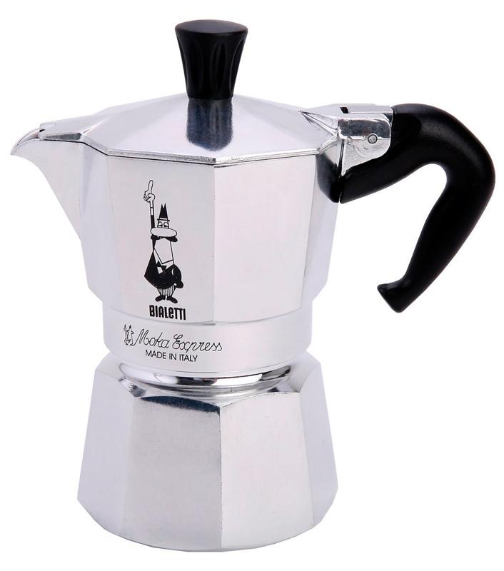 "Онлайн каталог PROMENU: Кофеварка гейзерная ""Moka"" на 2 чашки Bialetti MOKA EXPRESS, серебристый Bialetti 0001168"