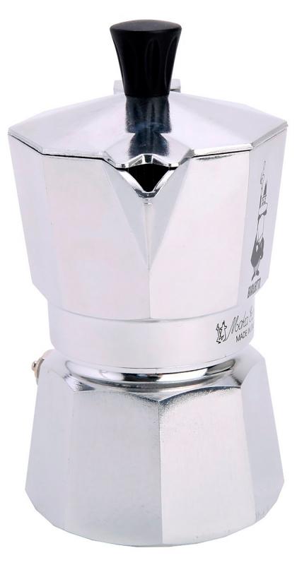 """Кофеварка гейзерная """"Moka"""" на 2 чашки Bialetti MOKA EXPRESS, серебристый Bialetti 0001168 фото 1"""