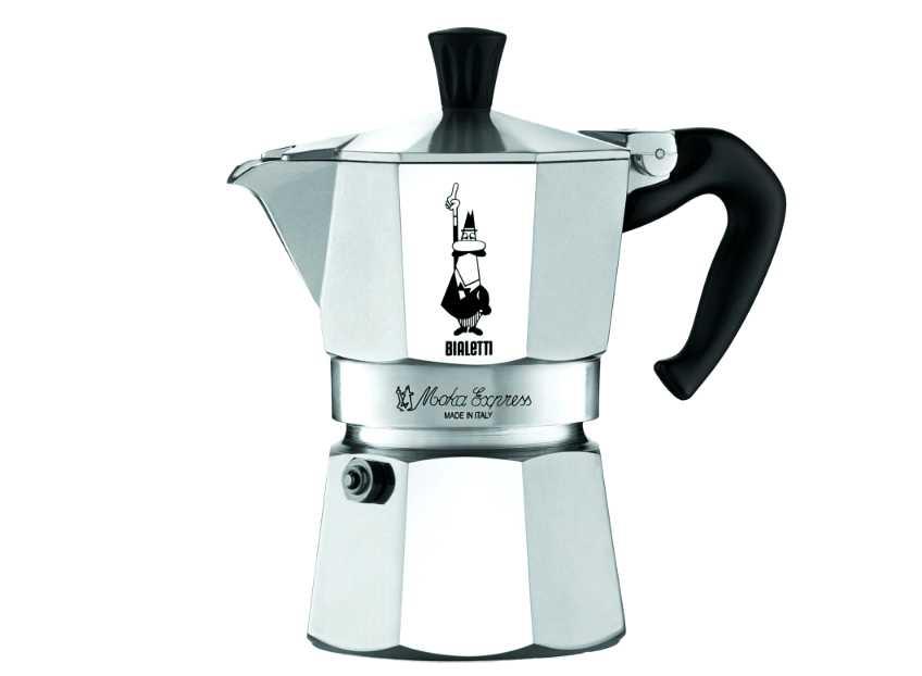 "Онлайн каталог PROMENU: Кофеварка гейзерная ""Moka express""  на 3 чашки Bialetti MOKA EXPRESS, серебристый Bialetti 0001162"
