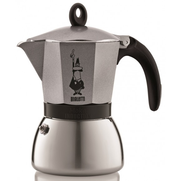 "Онлайн каталог PROMENU: Кофеварка гейзерная ""Moka induction"" на 3 чашки Bialetti MOKA INDUCTION, серебристый Bialetti 0004822X4"