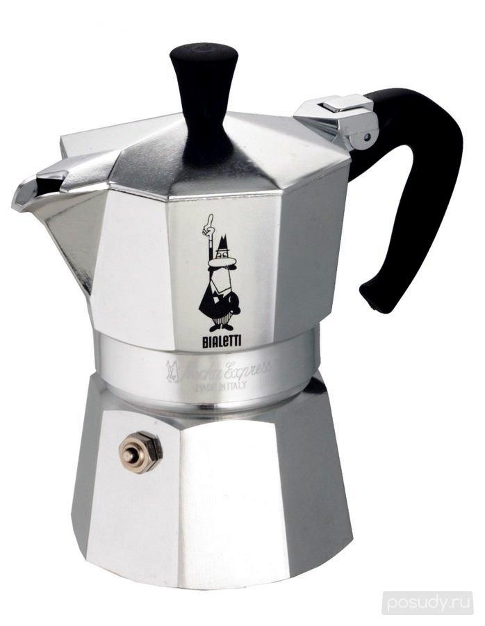 """Гейзерная кофеварка """"Moka express""""  на 4 чашки Bialetti MOKA EXPRESS, серебристый Bialetti 0001164 фото 1"""