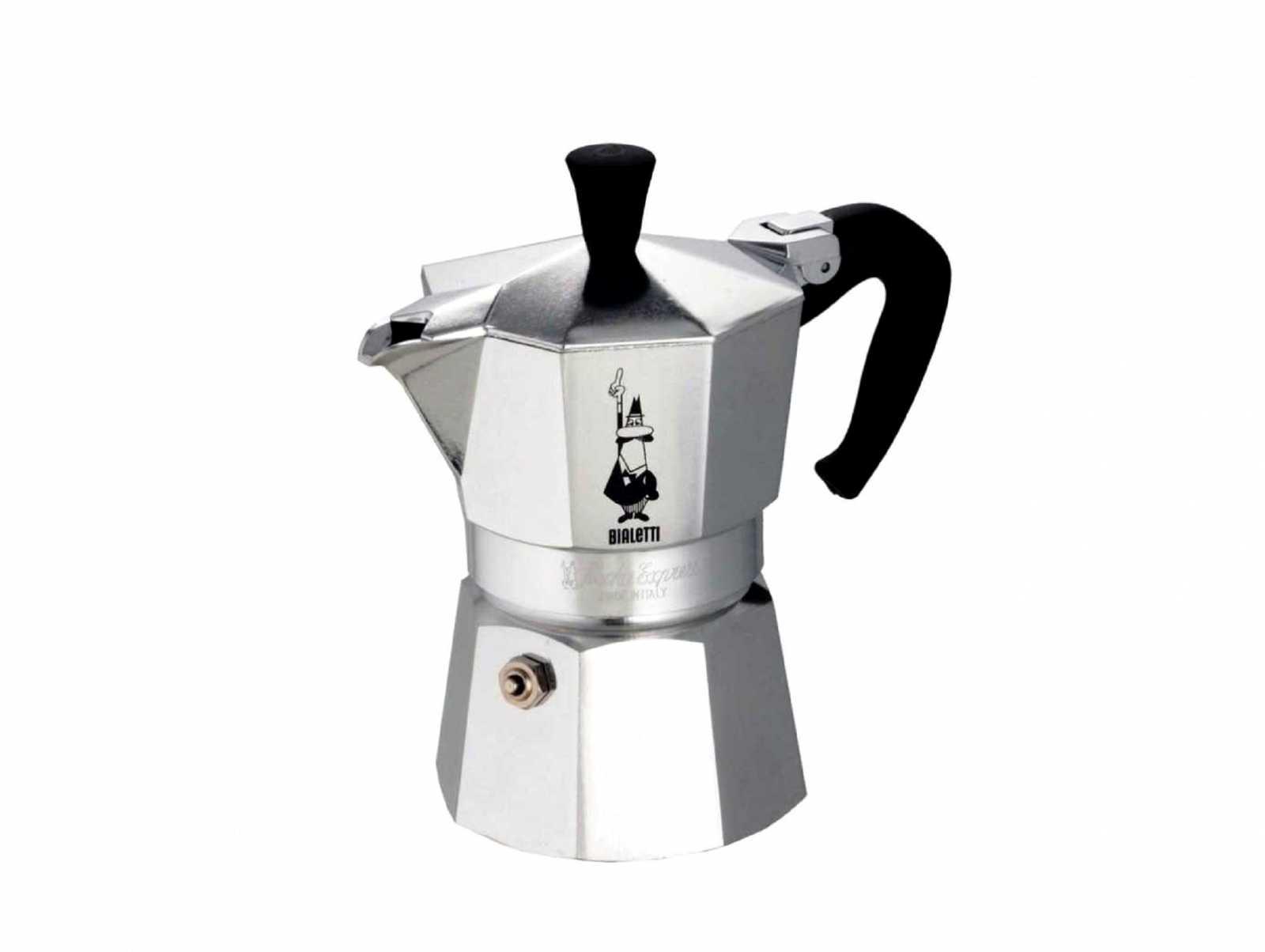 "Онлайн каталог PROMENU: Гейзерная кофеварка ""Moka express""  на 4 чашки Bialetti MOKA EXPRESS, серебристый Bialetti 0001164"