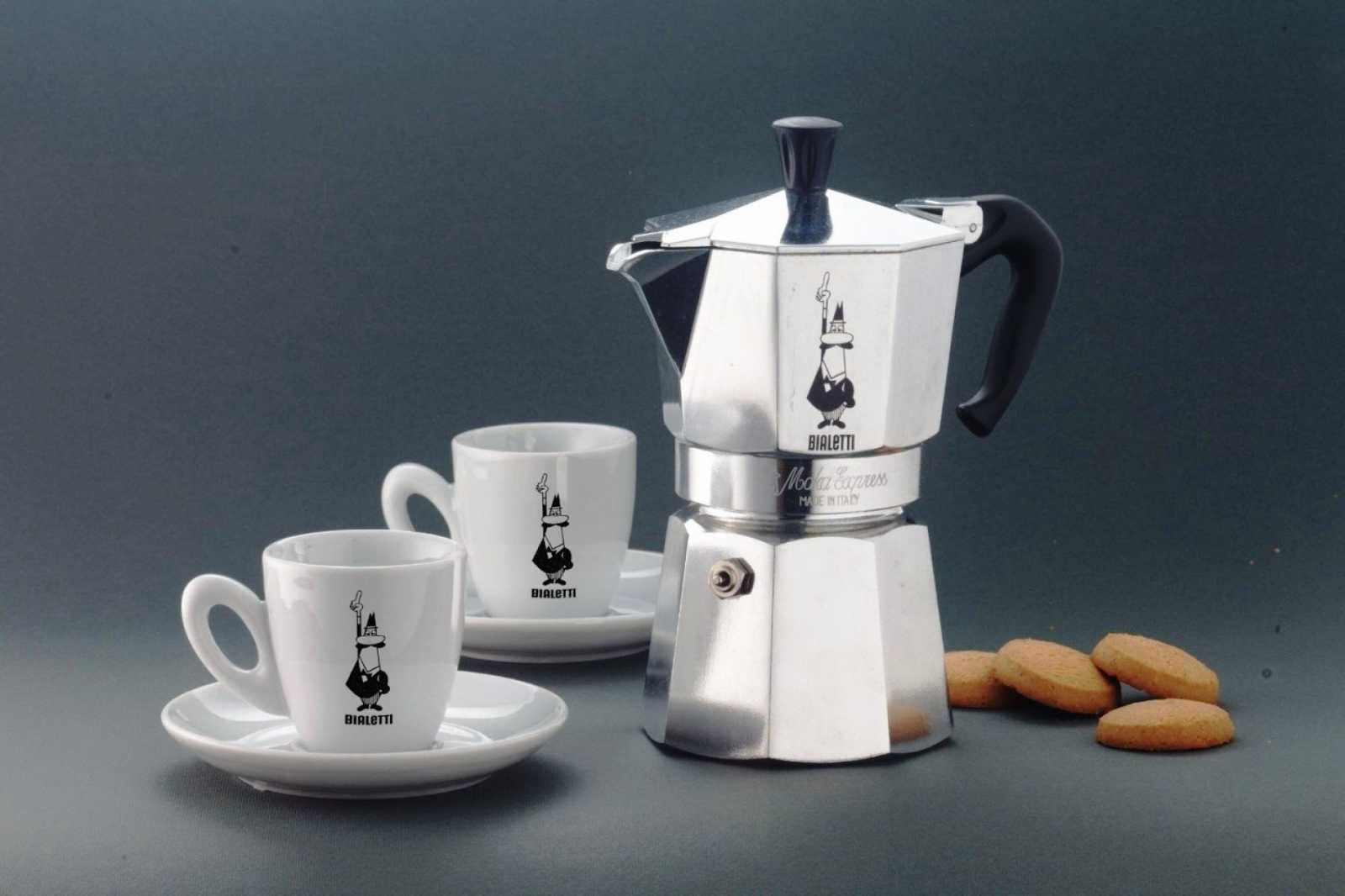"""Гейзерная кофеварка """"Moka express""""  на 4 чашки Bialetti MOKA EXPRESS, серебристый Bialetti 0001164 фото 2"""
