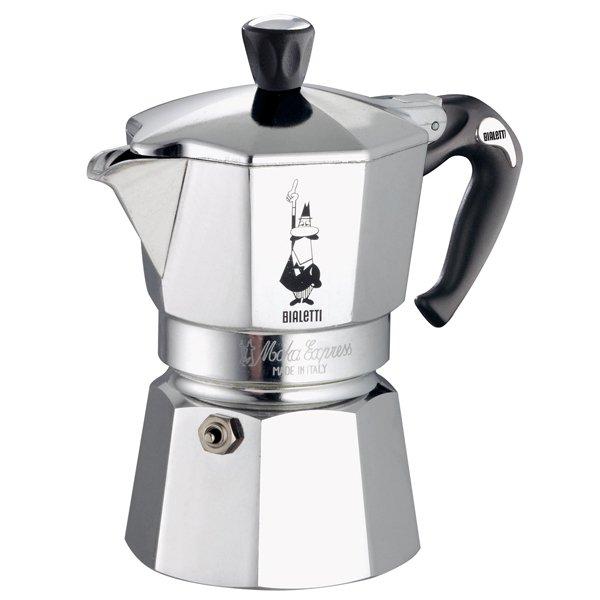 "Онлайн каталог PROMENU: Кофеварка гейзерная ""Moka express""  на 6 чашек Bialetti MOKA EXPRESS, серебристый Bialetti 0001163"