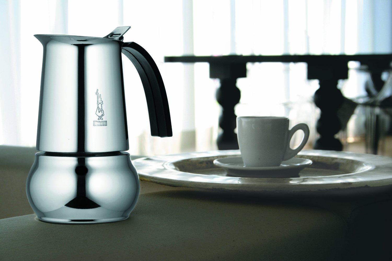 """Кофеварка гейзерная индукционная """"Kitty"""" на 10 чашек Bialetti KITTY, серебристый Bialetti 0004885IN фото 1"""