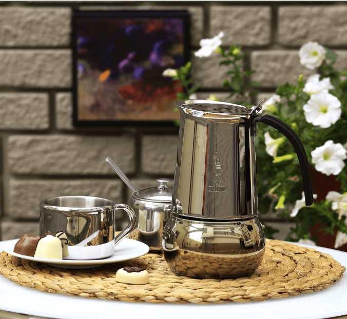 """Кофеварка гейзерная индукционная """"Kitty"""" на 6 чашек Bialetti KITTY, серебристый Bialetti 0004883IN фото 3"""