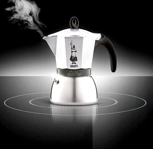 "Кофеварка гейзерная ""Moka induction"" на 3 чашки Bialetti MOKA INDUCTION, золотисто-бежевый Bialetti 0004832X4 фото 1"