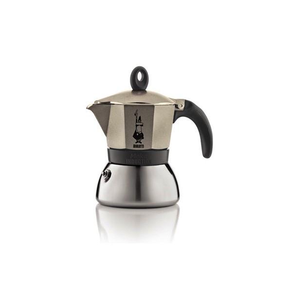 "Онлайн каталог PROMENU: Кофеварка гейзерная ""Moka induction"" на 3 чашки Bialetti MOKA INDUCTION, золотисто-бежевый Bialetti 0004832X4"