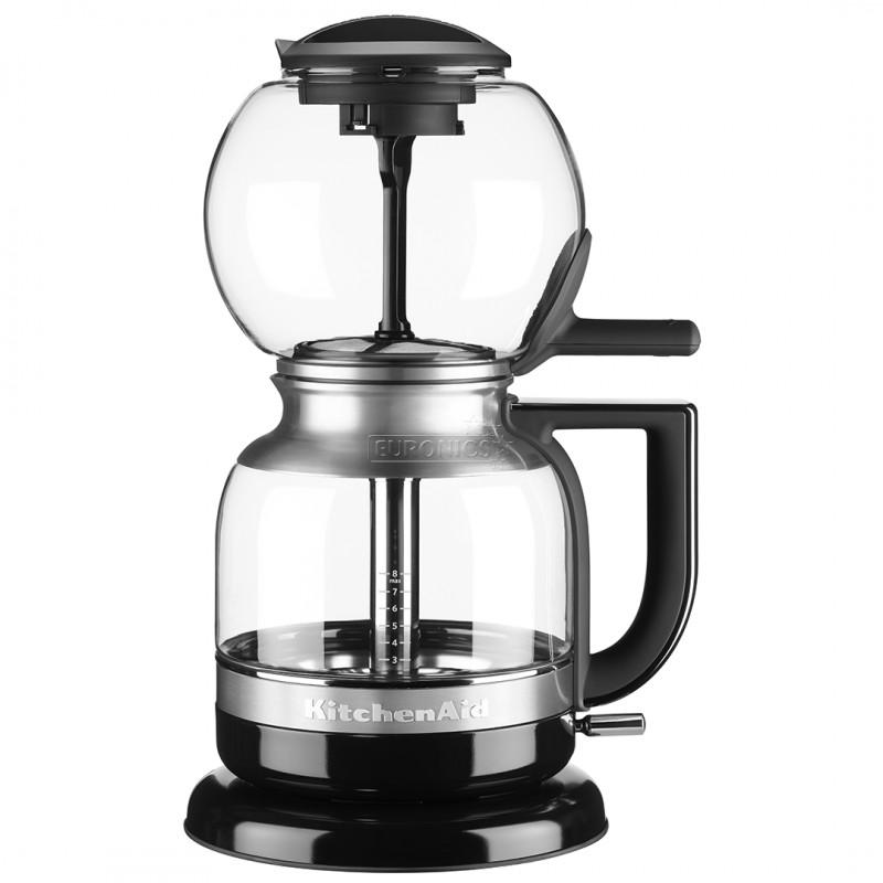 Онлайн каталог PROMENU: Кофеварка сифонная на 8 чашек KitchenAid Artisan, объем 1 л, черный                               5KCM0812EOB