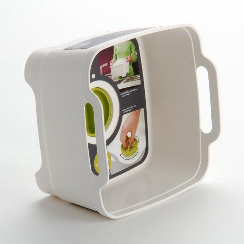 Емкость для мытья посуды со сливом Joseph Joseph WASH AND DRAIN, 20x31,5x31 см, зеленый Joseph Joseph 85059 фото 4