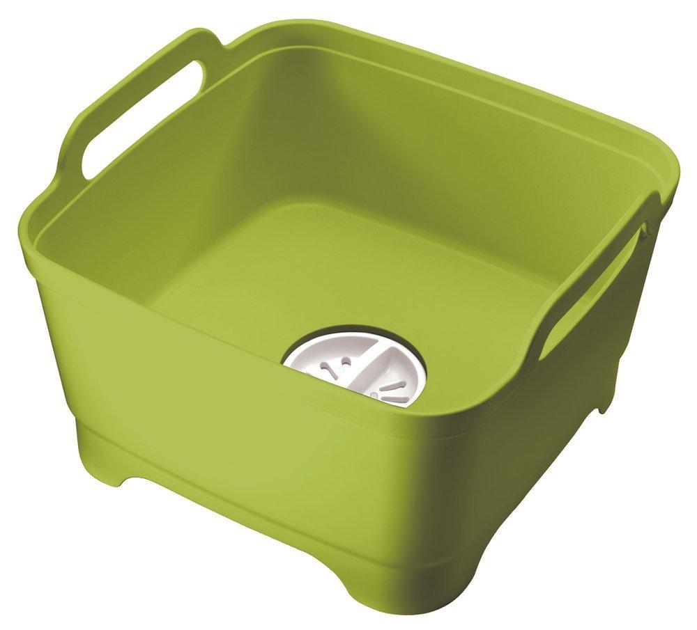 Онлайн каталог PROMENU: Емкость для мытья посуды со сливом Joseph Joseph WASH AND DRAIN, 20x31,5x31 см, зеленый Joseph Joseph 85059