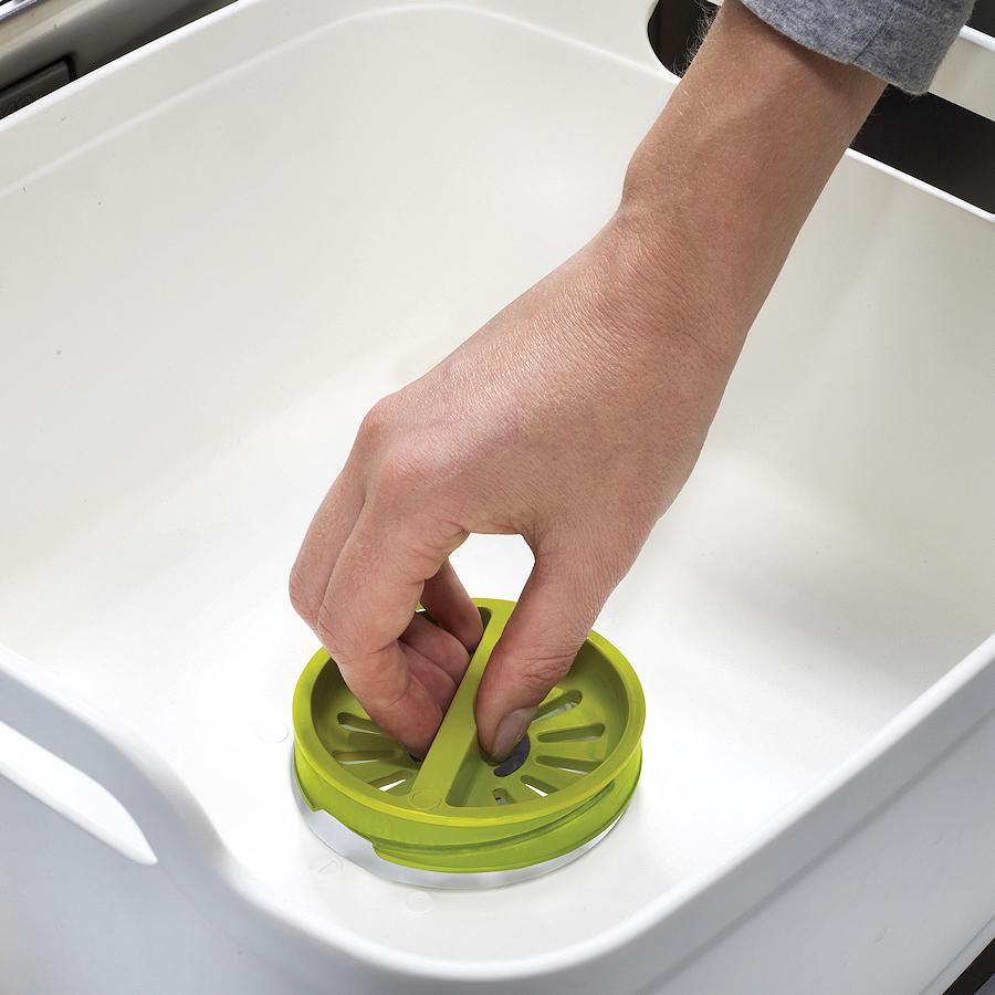 Емкость для мытья посуды со сливом Joseph Joseph WASH AND DRAIN, 20x31,5x31 см, зеленый Joseph Joseph 85059 фото 1
