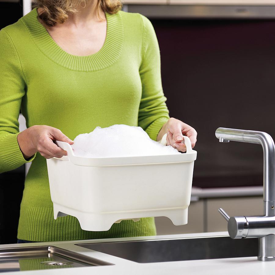 Емкость для мытья посуды со сливом Joseph Joseph WASH AND DRAIN, 20x31,5x31 см, зеленый Joseph Joseph 85059 фото 2