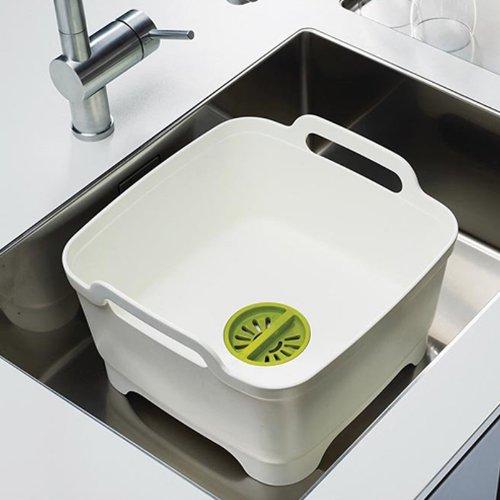Емкость для мытья посуды со сливом Joseph Joseph WASH AND DRAIN, 20x31,5x31 см, зеленый Joseph Joseph 85059 фото 3