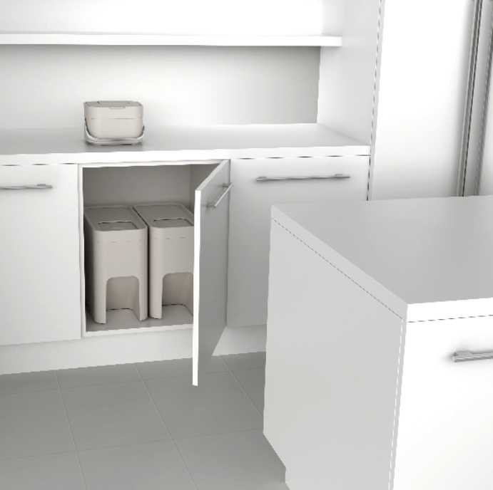 Контейнер для пищевых отходов Joseph Joseph stack, объем 4 л, 23,5х19,7х16,1 см, белый Joseph Joseph 30015 фото 8