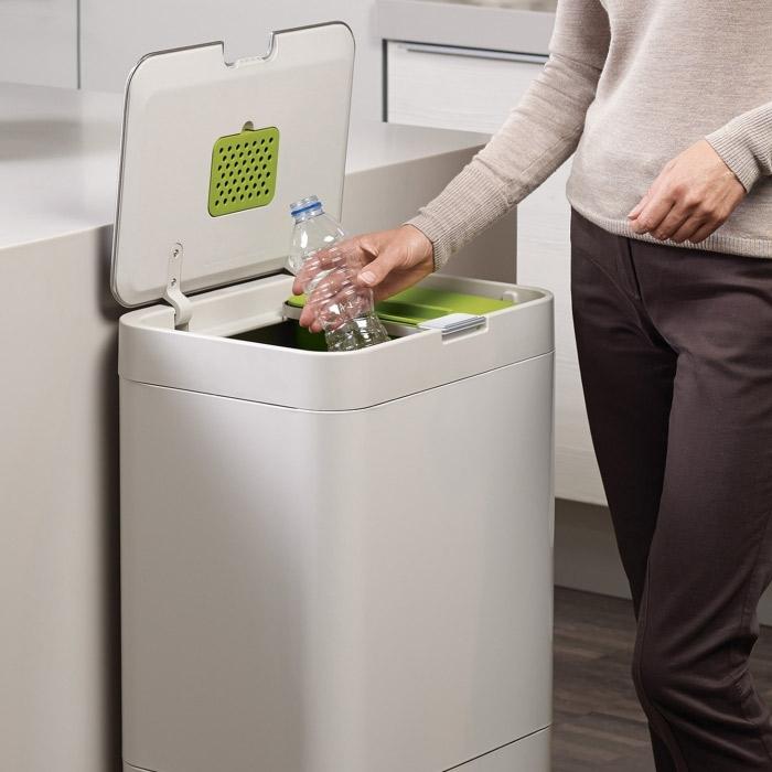 Контейнер для сортировки мусора Joseph Joseph totem, 50 л, 40х30х65,6 см, белый Joseph Joseph 30003 фото 1