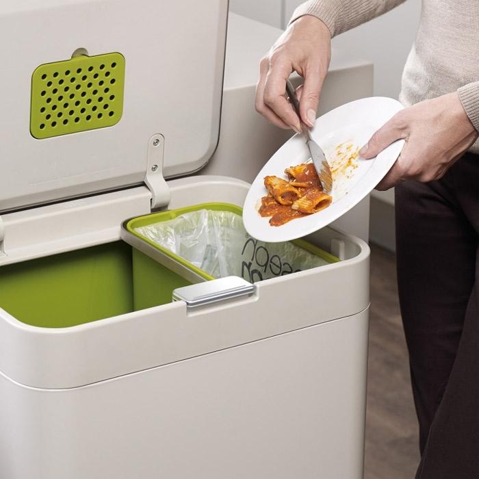 Контейнер для сортировки мусора Joseph Joseph totem, 50 л, 40х30х65,6 см, белый Joseph Joseph 30003 фото 9